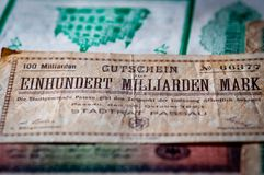 Close up of bank note Stock Images