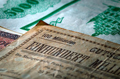 Close up of bank note Royalty Free Stock Photography