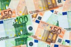Close-up of bank notes Royalty Free Stock Photos