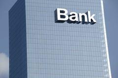 Close up a bank sign Royalty Free Stock Image