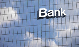 Close up a bank sign Royalty Free Stock Image