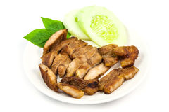 Close up Barbecued pork Royalty Free Stock Image