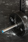 Close-up of barbell plate Royalty Free Stock Photos