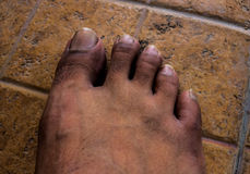 Close up of Bare Feet Royalty Free Stock Photography