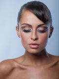 Close up Bare Slim Woman with Make-up Stock Photography
