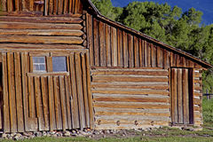 Close-up barn in the Grand Tetons. Stock Photography