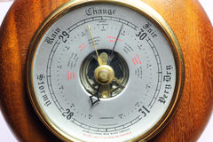 Close up of a barometer. Stock Image