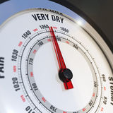 Barometer Dial Set to Very Dry, Weather Forecast Royalty Free Stock Photos