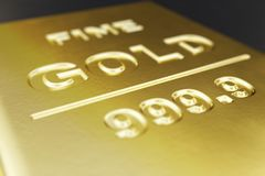 Close-up, barras de ouro brilhantes macro, peso de barras de ouro 1000 gramas de conceito da riqueza e reserva Conceito do sucess Foto de Stock