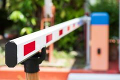 Close up Barrier Gate Automatic system for security. Automatic entry system stock photography
