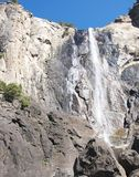 Close up from base of Bridalveil Fall, Yosemite. Stock Images