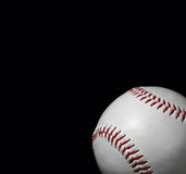 Close-up of baseball. On black background with copy space Stock Photography