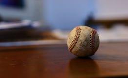 Baseball ball. Close up of a baseball ball Royalty Free Stock Images