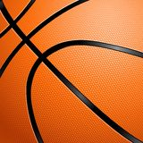 Close-up of a Basketball. Stock Photography