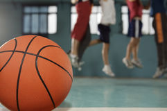 Close-up of a basketball Royalty Free Stock Photography
