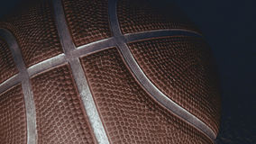 Close up Basketball on a black background. Basketball Royalty Free Stock Image