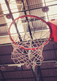 Close up of Basketball Hoop in Sport Hall Stock Images