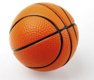 Close-up of basketball. One basketball on plain background Stock Photos