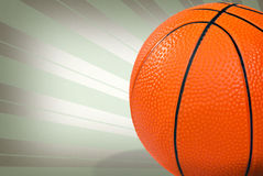 Basketball on star burst background Stock Image
