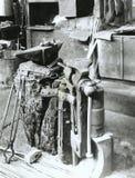Close-up of a Basque Anvil from a foundry. Close-up of a Basque Anvil from an old steel foundry of Bergara, Guipuzcoa Basque Country Royalty Free Stock Photos