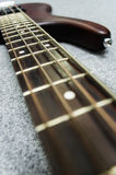 Close up of bass fret Royalty Free Stock Images