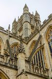 Close up of Bath Abbey, Bath, England Royalty Free Stock Images