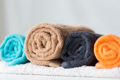 Close up of bath towels Royalty Free Stock Photos