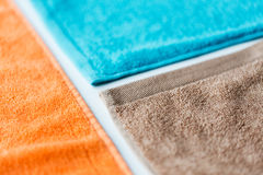 Close up of bath towels Royalty Free Stock Images