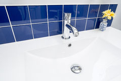 Close-up of a Bathroom Faucet Royalty Free Stock Photos