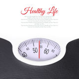 Close up of bathroom scale Stock Images