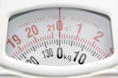 Close Up Of Bathroom Scales Dial Stock Images
