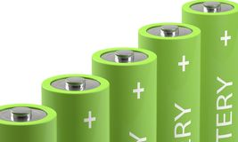 Close-up of batteries Royalty Free Stock Images