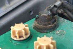 Close up of Battery car terminal Stock Photography