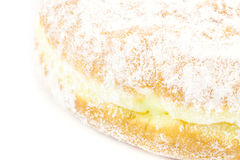 Close up bavarian donut. On white background Stock Photo