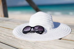 Close up of beach accessories at seaside Stock Photo