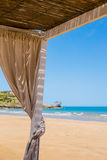 Close up of a beach gazebo Royalty Free Stock Photography