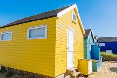 Close up of beach huts Royalty Free Stock Photo