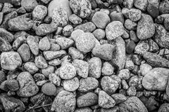Close Up of Beach Stones Royalty Free Stock Photos