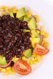Close up of beans salad. Royalty Free Stock Photo