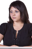 Close up of a beatuiful woman - isolated background Royalty Free Stock Images