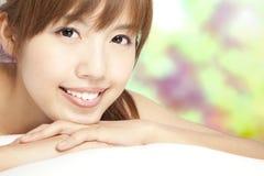 Close up of beautiful asian girl Stock Photos