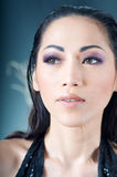 Close up of beautiful Asian woman Royalty Free Stock Photography