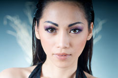 Close up of beautiful Asian woman Royalty Free Stock Images