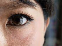 Close up of Beautiful Asian Woman Eye royalty free stock photo