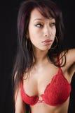 Close-up of a beautiful asian women Royalty Free Stock Photos