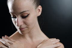 Close Up Of A Beautiful Ballet Dancer Royalty Free Stock Photo