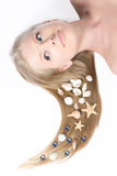 Close-up beautiful blond Stock Image