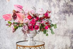 Close-up. Beautiful bouquet of fresh flowers. stock photos