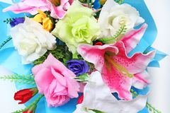 Close up beautiful bouquet on white background royalty free stock photos