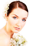 Close up of a beautiful bride stock photo